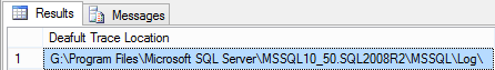 Identify the Default Trace File Location in SQL Server Using Registry