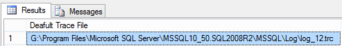 Identify the Default Trace File Location in SQL Server Using sys.fn_trace_getinfo Function