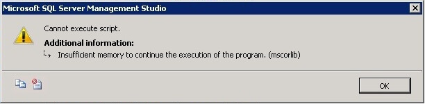 Insufficient memory to continue the execution of the program (mscorlib)