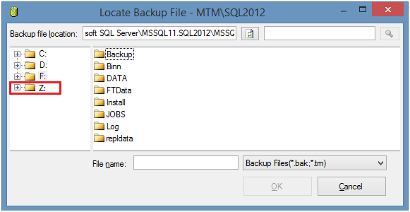 Configure Network Drive Visible for SQL Server for Backup and Restore Using SSMS