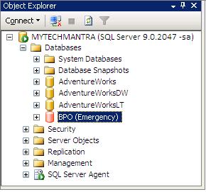 SQL Server Database in Emergency Mode